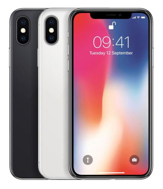 APPLE IPHONE X 64GB SPACEGRAU, SILBER - OHNE SIMLOCK - HÄNDLER - WOW