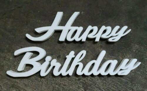 """Schriftzug /""""Happy Birthday/"""" 80x9x3 cm Buchstaben Styropor Geburtstag Tischnummer"""