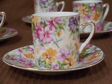 Royal Crown China - Set of 6 Gorgeous Demi Demitasse Tea Cups and Saucers
