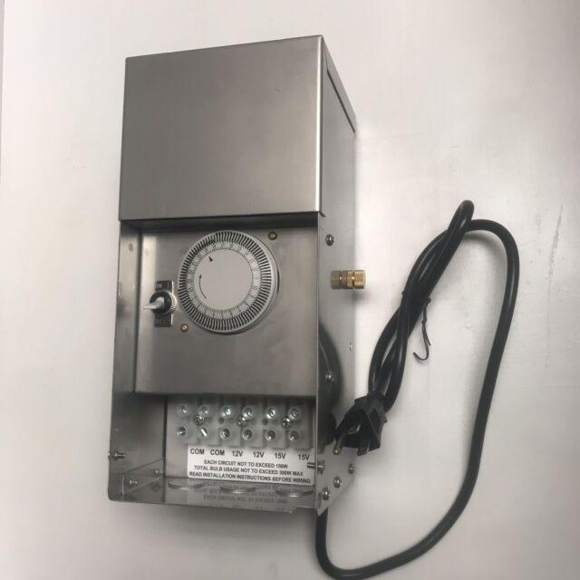 MDL Lighting Black 100 W Low Voltage Landscape Lighting Transformer Multi-Tap
