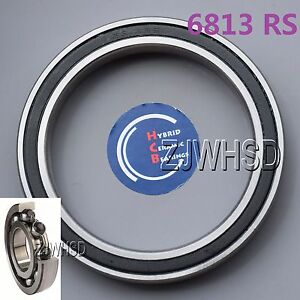 6813-2RS-Si3N4-Hybrid-Ceramic-Ball-Bearing-Rubber-Sealed-65-x-85-x-10mm