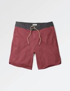 33076f1e3a Fat Face Men's Harbour Twill Swim Shorts - Brick Red - Size XS - 28 ...