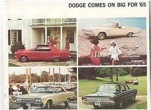1965-Dodge-32-page-Car-Sales-Brochure-Polara-Dart-GT-Coronet-Custom-880-Monaco