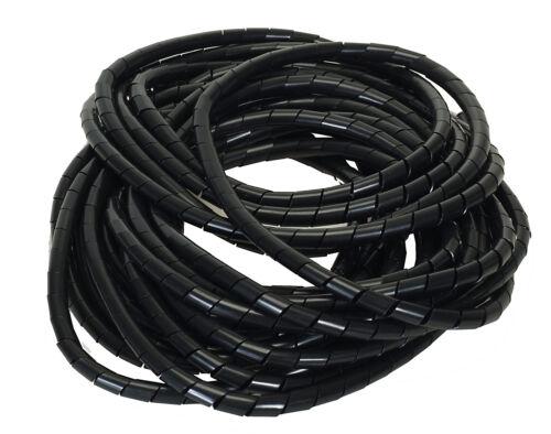 Bündelbereich Ø12-75mm Länge10 m SCHWARZ Flexible-Kabelspirale Spiralschlauch