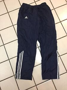 5f4287e6384dc6 ADIDAS 3 Stripe Pants Men's M blue Gray Athletic Warm Up Track ...
