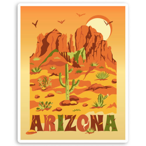 2 X 10cm Pegatinas de vinilo de Arizona Estado de Estados Unidos-América USA equipaje Adhesivo #31522