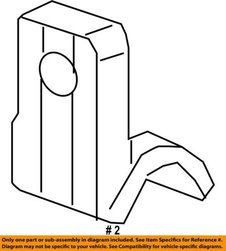 CHEVY SONIC UPPER RADIATOR MOUNTING BRACKET SUPPORT 2012-2019 NEW OEM  95016649