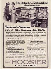 HOOSIER 1917 Kitchen CABINET PRICES Oak Cupboard Flour Bins Vtg REPRINT 8x11 AD