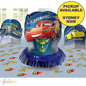 Image Is Loading DISNEY CARS 3 PARTY SUPPLIES 23pc TABLE DECORATING
