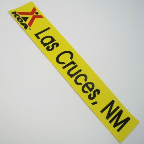 Vtg Bumper Sticker Las Cruces NM KOA New Mexico Decal Travel Souvenir Camping