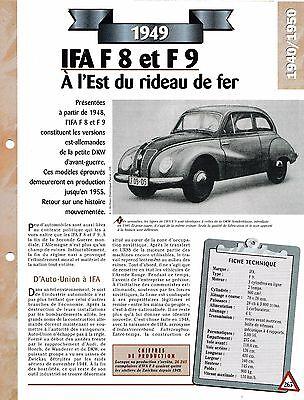 Diplomatico Voiture Ifa F 8 Et F 9 Fiche Technique Auto 1949 Collection Car