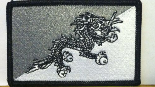 BHUTAN FLAG Patch Iron On B /& G Version Military Morale Tactical Flag #08