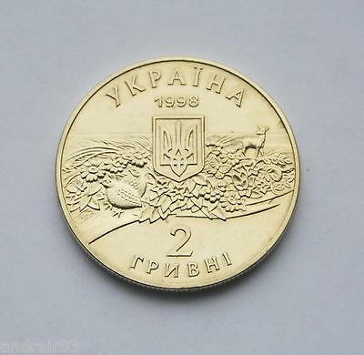 Ukraine 2001 coin 2 UAH Michael Ostrogradsky mathematician MC122