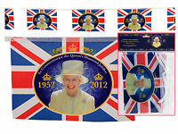 100 FEET Queen Diamond Jubilee Union Jack Bunting 60 Flags 30 meter STREET PARTY
