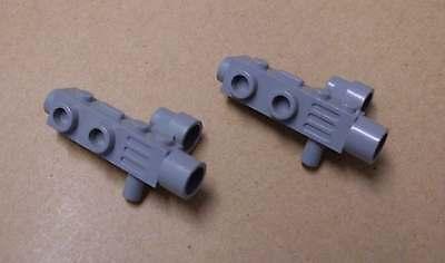 Lego 2 Weltraum Space Gun Kameras Fernrohre Blaster Pistolen grau hell Zubehör
