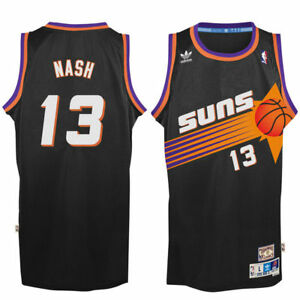 6fcd19ca324 Steve Nash #13 Phoenix Suns Men's Black Hardwood Classics Throwback ...