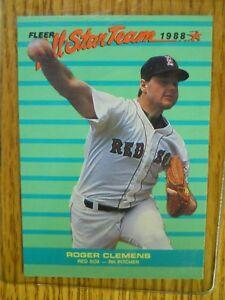 Details About 1988 Fleer Baseball Card 4 Of 12 Roger Clemens All Star Team