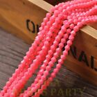 New 200pcs 4mm Bicone Faceted Lustrous Loose Spacer Glass Beads Deep Pink