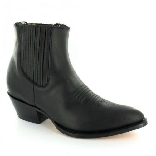 Molinos Para Hombre Maverick Negro Unisex Cuero botín Western Cowboy botas