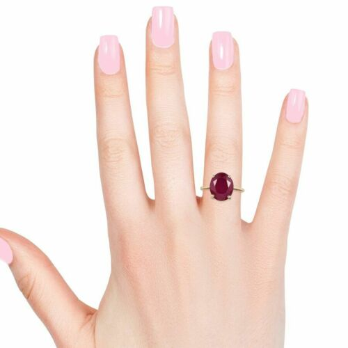 9ct Yellow Gold Ruby Solitaire Ring 7.00 Ct.