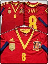 Adidas Spain Xavi 8 RFEF FIFA 2010 World Cup Champs Soccer Home Jersey Medium