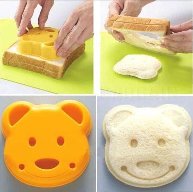 DIY Cute Bear Sandwich Bread Dessert Cake Rice Toast Stamp Mold Cutter Tool Kit