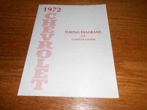 1972 CHEVROLET BELAIR IMPALA CAPRICE WIRING DIAGRAM MANUAL / '72 CHEVY  DIAGRAMS | eBay | 72 Caprice Wiring Diagram |  | eBay