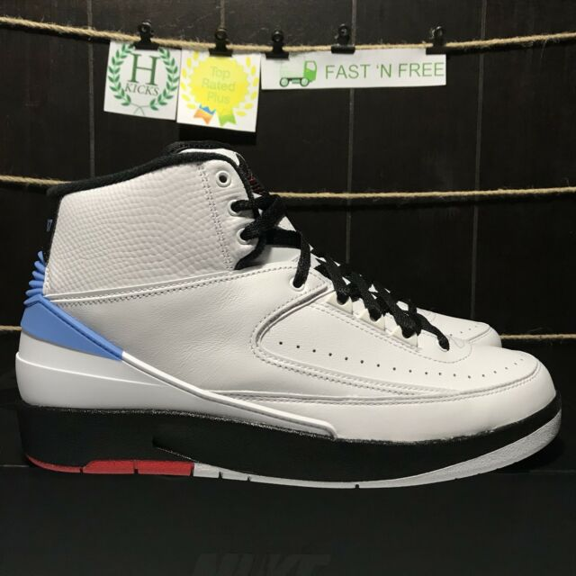 pretty nice 8ea3b 646cd Nike Air Jordan Retro 2 Alumni UNC White Red Blue 917360 105 Size 8