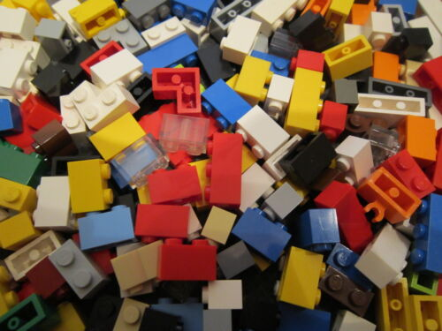 One Hundred 1x2 and 1x3 BRICK MIX Lego in Various Colours