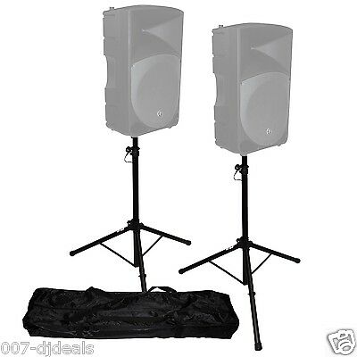 T-SS18P PAIR 2 DJ PA SPEAKER STANDS SET CARRY CASE AMERICAN 6FT PRO AUDIO TRIPOD