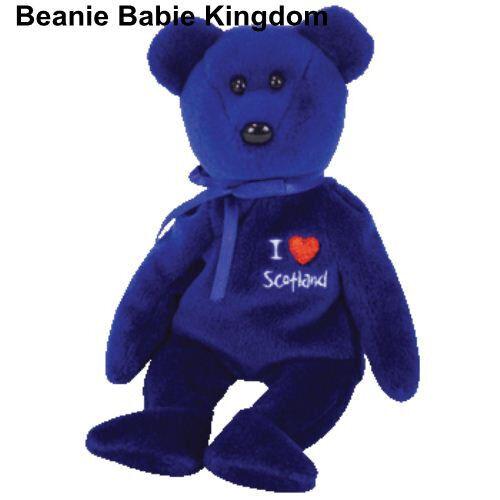 TY BEANIE BABIE * I LOVE SCOTLAND * THE BLUE TEDDY BEAR - UK EXCLUSIVE 7