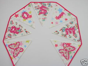 ca68db280 Girls Personalised Bunting CATH KIDSTON Butterfly+Star Fabric£2.50 ...