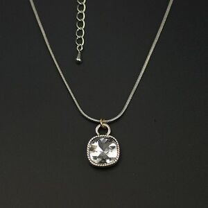 Lia-sophia-jewelry-silver-tone-square-cut-crystal-pendant-necklace-chain