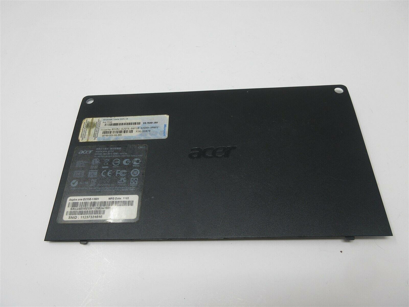 Bottom Case Cover Door Panel AP0F3000200 - Acer One D255 D255E PAV70 Netbook