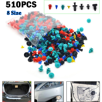 520PCS Car Trim Body Clips Kit Rivet Retainer Door Panel Bumper FITS TOYOTA