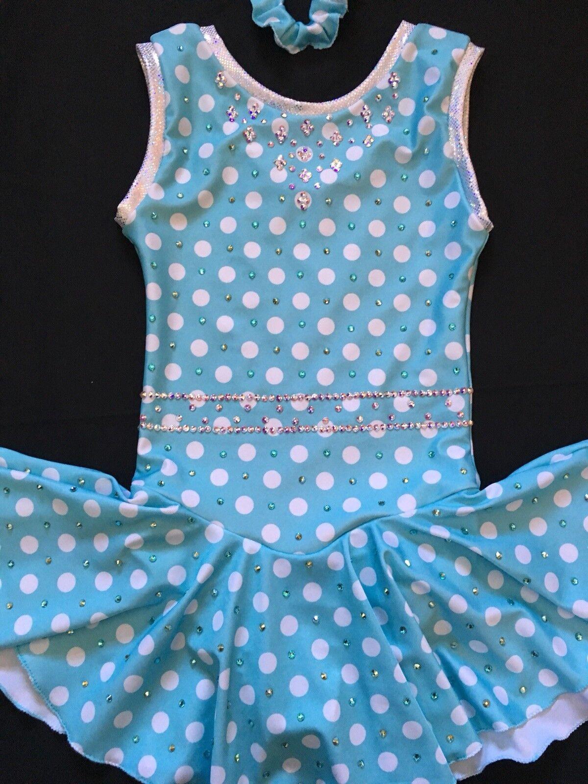 Girls Size Medium (8-10) Polka Dot  Figure Skating Dress  most preferential