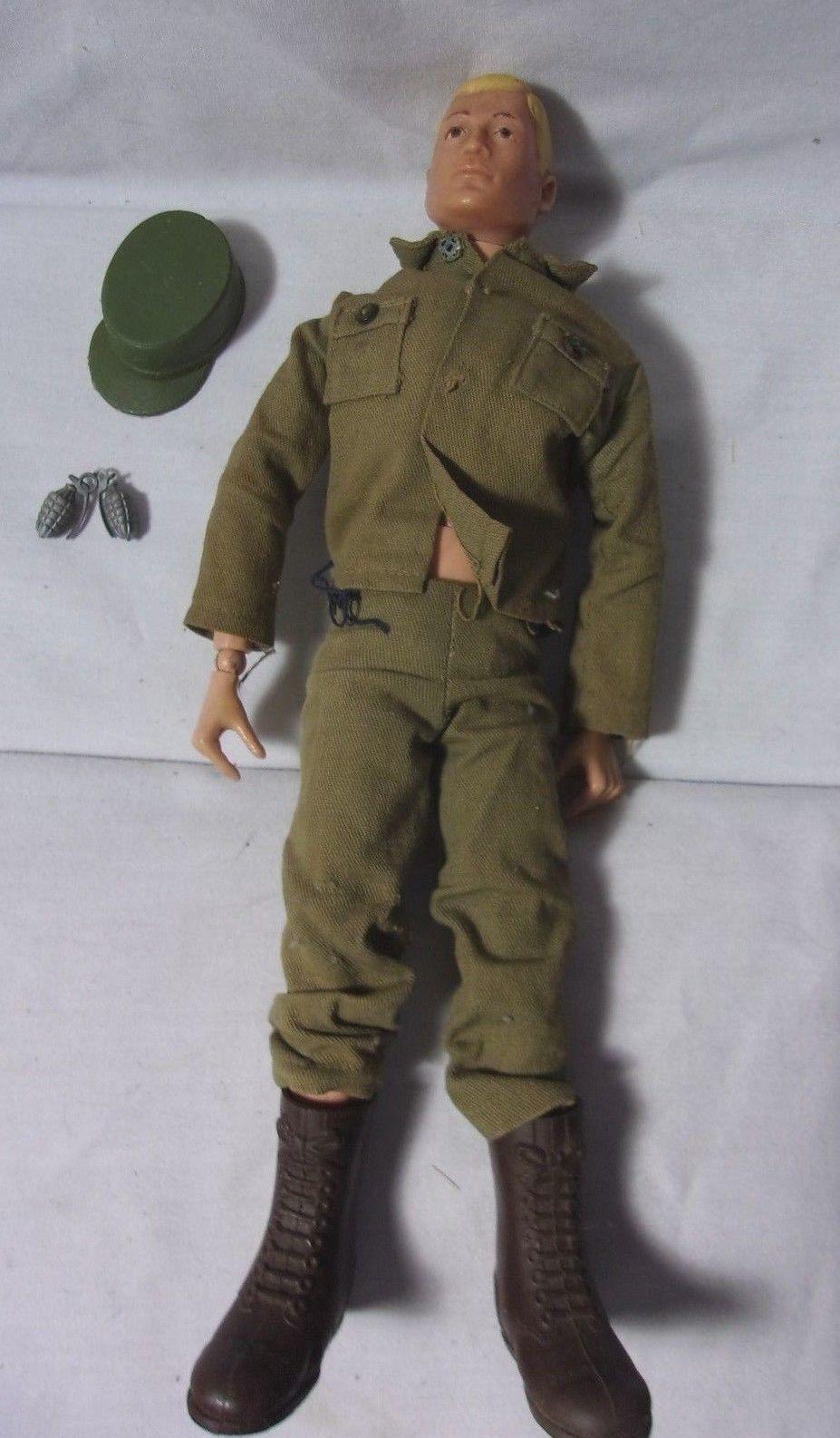Vintage G.i. Joe 12 Juguete Figura de acción rara rubia Soldado T