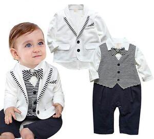 Vestiti Eleganti Bimbo 6 Mesi.Vestito Completo Set Bambino Neonato 0 24 Mesi Abito Da Cerimonia