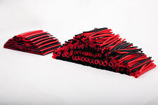 Huge Assortment of 428 Pcs Red Black Heat Shrink Tube Sleeve in 10 Sizes