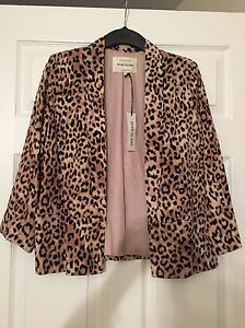 BNWT-Size-8-Ladies-Leopard-Print-Smart-Blazer-Jacket