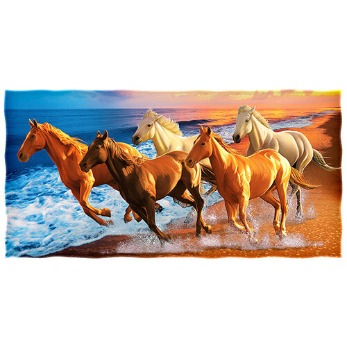 Horses On The Beach Cotton Beach Towel By Dawhud Direct For Sale Online Ebay