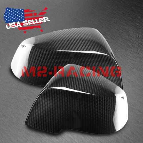 FOR BMW F32 F33 F36 E84 4SERIES 3K REAL CARBON FIBER SIDE MIRROR COVER STICK ON