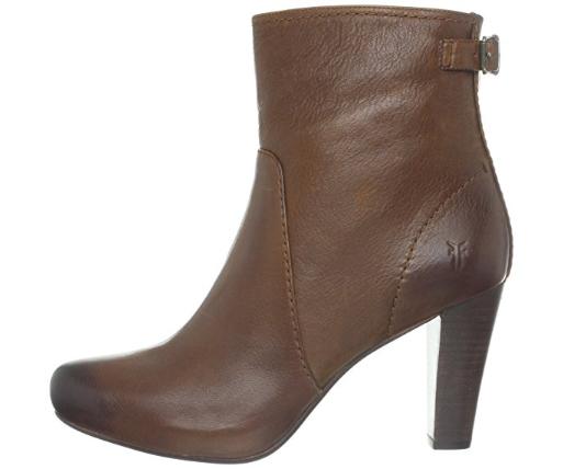 New in Box FRYE Marissa Zip Short Cognac Leather Bootie Boots 76933 Size 10