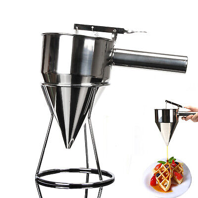 Stainless Steel Utensil Conical Funnel with Shelf Octopus Fish Balls Kitchen