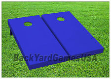 Blue Cornhole Boards Custom BEANBAG TOSS GAME w Bags or Choose your COLOR