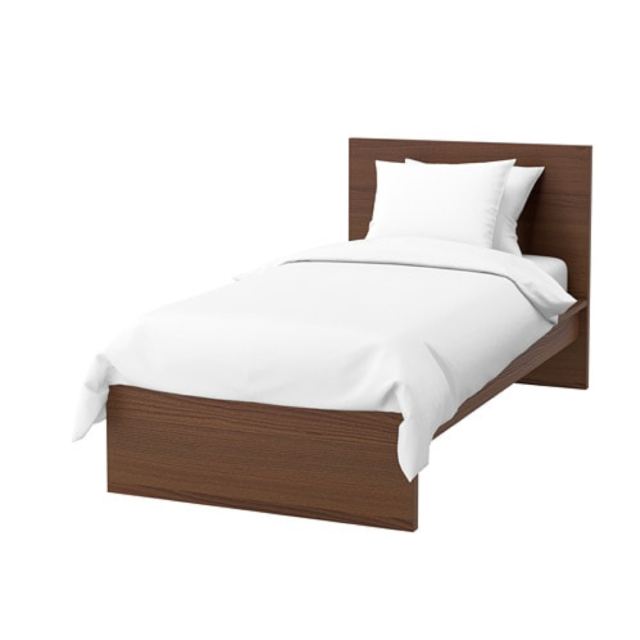 timeless design 32f67 2040f IKEA Malm Twin Bed Frame High Brown Stained Ash Veneer 203.251.59