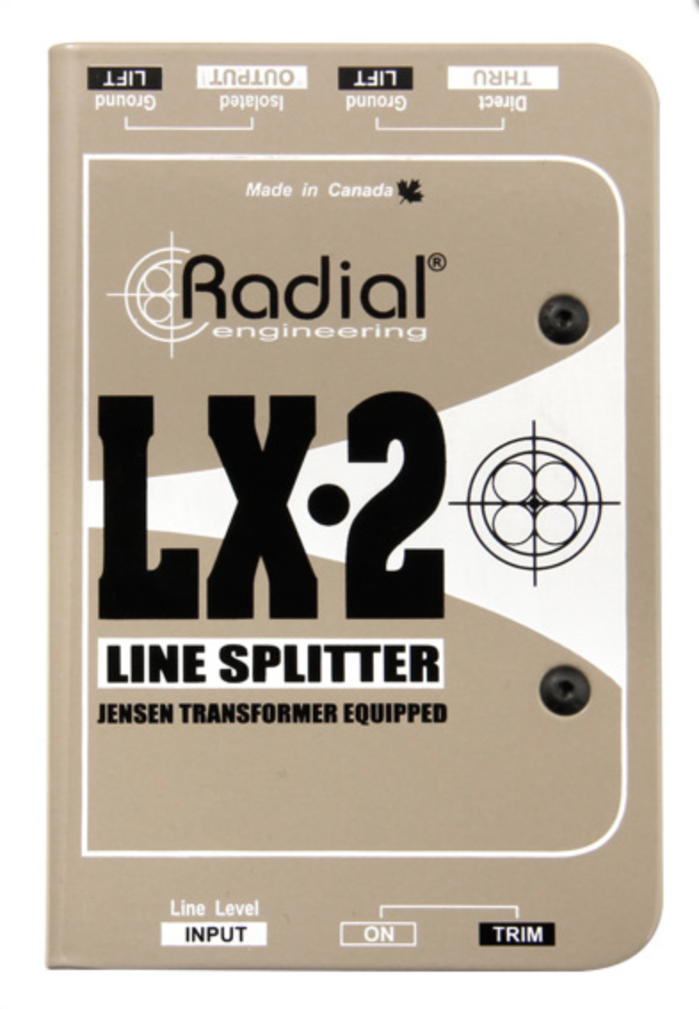 Radial LX2 Line splitter, passive, 1 input, 1 direct out BEST OFFER R062