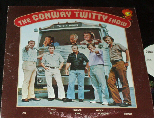 THE CONWAY TWITTY SHOW LP RARE PRIVATE PROMOTIONAL RELEASE