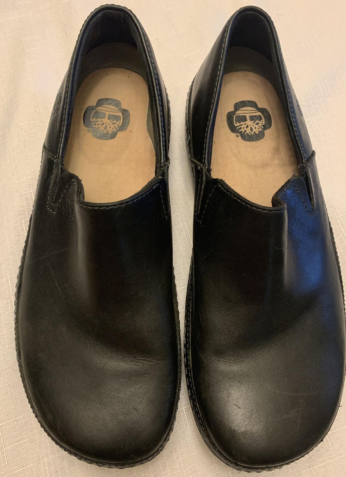 Timberland Black Slip On PRO153 Renova 89689B Slip Resistant Shoes Sz 8M - EXCEL