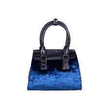 laura biagiotti tasche damen handtasche LB17W110-6 samt blau braun schwarz